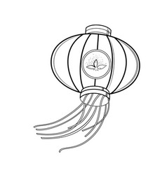 sketch chinese red lanterns vector image