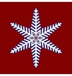 Snowflake Christmas pattern vector image