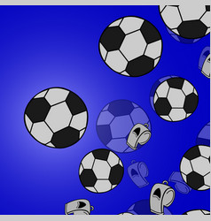 Sport with soccer ball coming in cracked wall vector