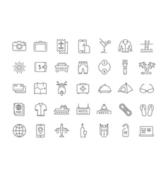 Travel Line Icons 6 2 vector