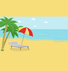 tropical island relax vector image
