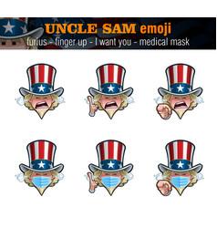 Uncle sam emoji - furious - index finger up - i vector
