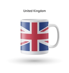 United kingdom flag souvenir mug on white vector