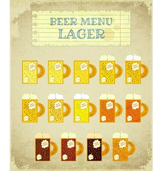 vintage beer card lager vector image