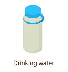 water icon isometric style vector image