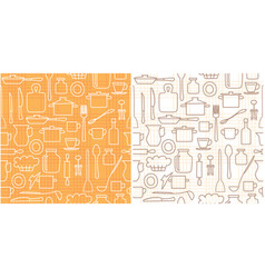 white and brown kitchenware on background vector image