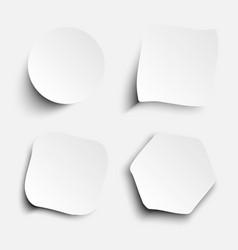 White Sticker Set vector image