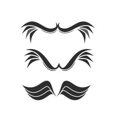 Wing logo set vector