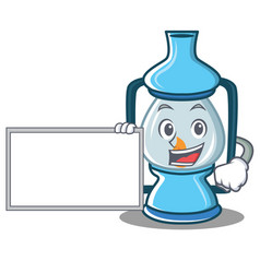 With board lantern character cartoon style vector