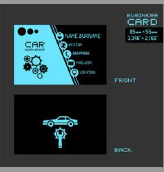 Workshop car business card vector