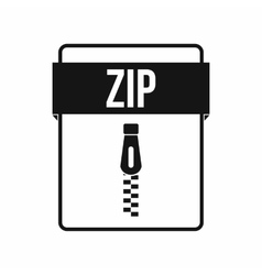 ZIP file icon simple style vector