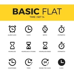 Basic set of time icons vector image