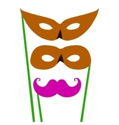 Cartoon pair of masks for masquerade costumes vector image