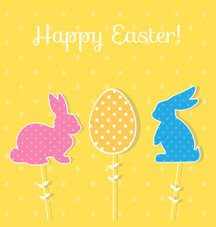 easter paper decoration in the form of bunny and vector image vector image