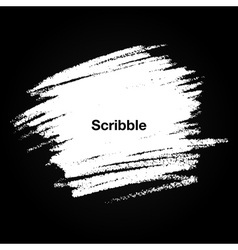 Scribble Hand drawn Stain in chalk on chalkboard vector image
