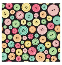 Sewing buttons as seamless pattern vector