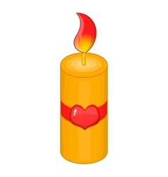 Valentine Day candle icon cartoon style vector image vector image