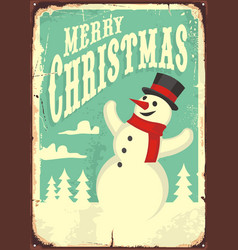 vintage christmas sign vector image vector image