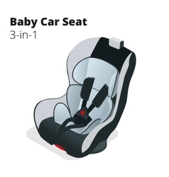 Safety Car seat for baby and kid isolated on vector image
