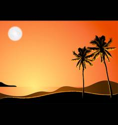 tropical night vector image vector image
