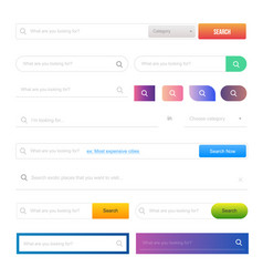 web design elements and buttons ui set vector image