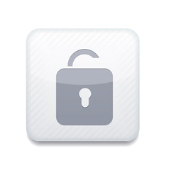 white unlock icon Eps10 Easy to edit vector image