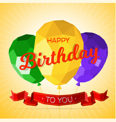 happy birthday greeting card template vector image