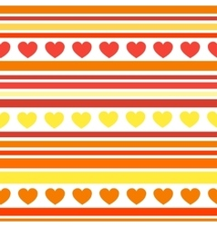 Seamless patterns with hearts fabric texture vector image vector image