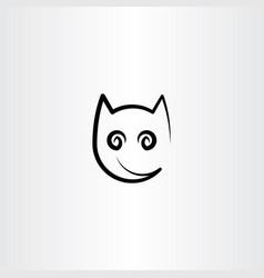 stylized cat icon design element logo vector image vector image