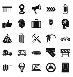 Supplier icons set simple style vector