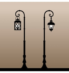 Vintage lanterns vector image vector image