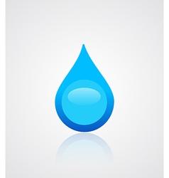Water drop emblem vector image vector image