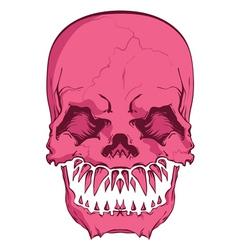 Aggressive skull vector