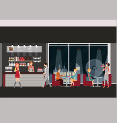 info graphic of coffee shop vector image