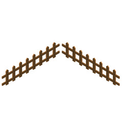 3d design for wooden fence vector