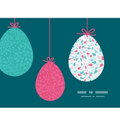 abstract colorful drops hanging Easter eggs vector image