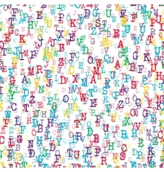Alphabet Background color vector image