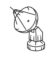 Antena icon doodle hand drawn or outline icon vector