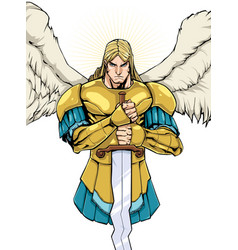 archangel michael portrait vector image