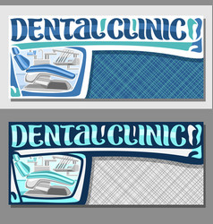 Banners for dental clinic vector