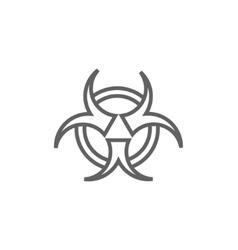 Bio hazard sign line icon vector