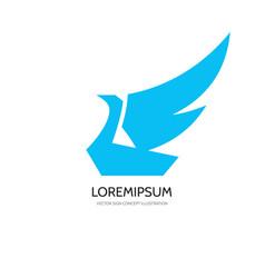 Bird - logo template concept vector