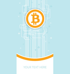 bitcoin blockchain flyer template cryptocurrency vector image
