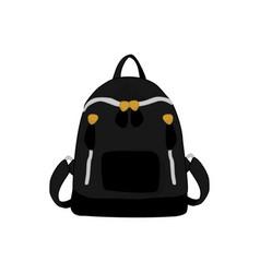 black backpack fashion style item vector image