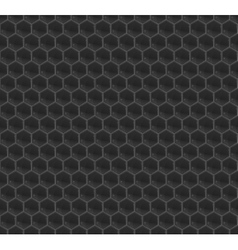 Black Pattern Hexagon Mosaic vector image