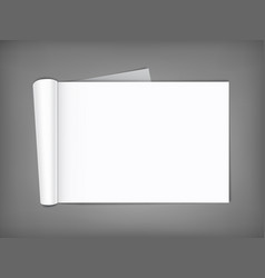 blank magazine with rolled pages vector image