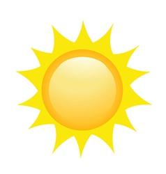 Bright sun vector image