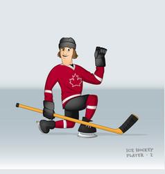 Canadian ice hockey player vector