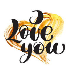 card valentine i love you lettering stylish vector image