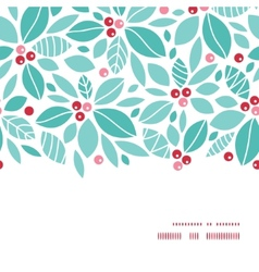 Christmas holly berries horizontal frame seamless vector